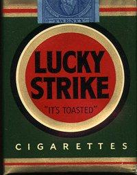 lucky strike cigs logo dizajn